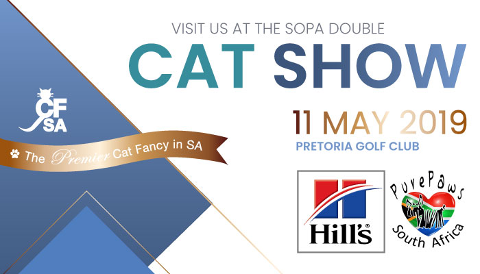 Visit us at the SOPA Pretoria Cat Show this weekend